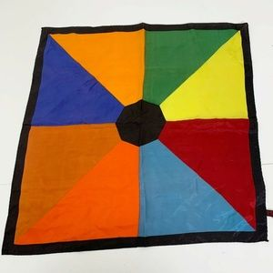 Accessories - Rainbow Stain Glass Window Square 19'' Neck Scarf